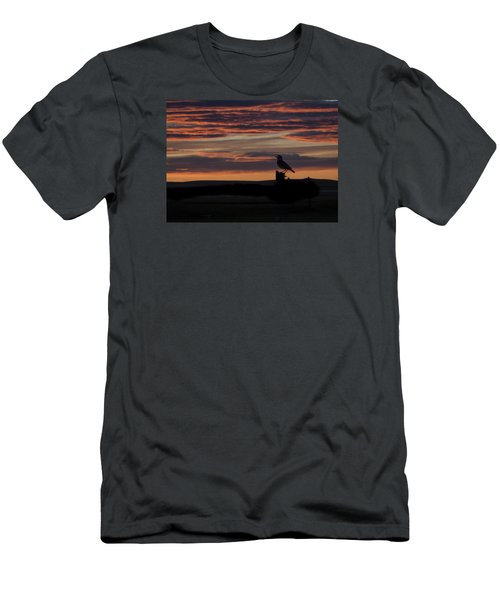 Meadow Lark's Salute To The Sunset Men's T-Shirt (Athletic Fit)