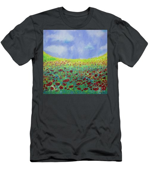 Meadow Of Poppies  Men's T-Shirt (Athletic Fit)
