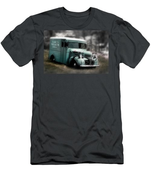 Men's T-Shirt (Slim Fit) featuring the painting Meat Truck by Gray  Artus