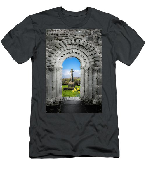 Medieval Arch And High Cross, County Clare, Ireland Men's T-Shirt (Athletic Fit)