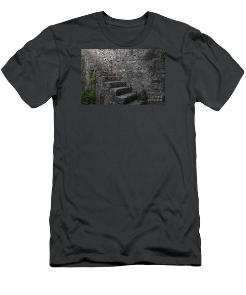 Medieval Wall Staircase Men's T-Shirt (Slim Fit)