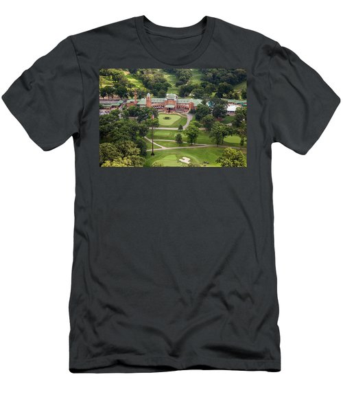 Men's T-Shirt (Athletic Fit) featuring the photograph Medinah Country Club by Adam Romanowicz