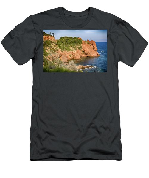 Mediterranean French Coastline Men's T-Shirt (Athletic Fit)