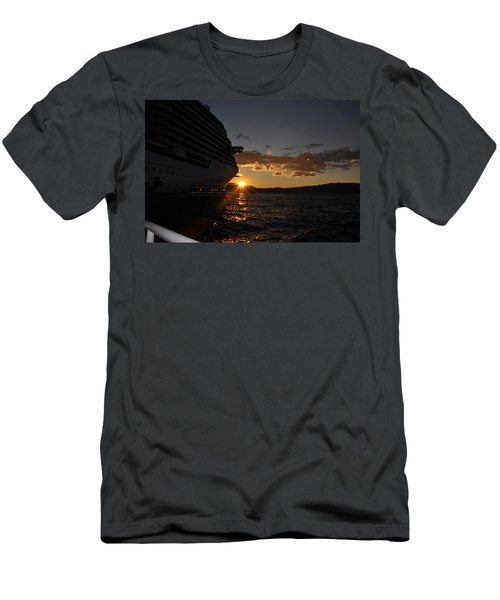 Mediterranean Sunset Men's T-Shirt (Athletic Fit)