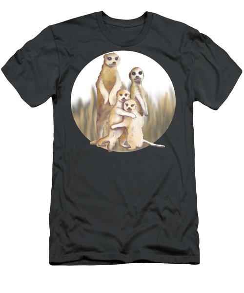 Meerkats  Men's T-Shirt (Slim Fit) by April Burton