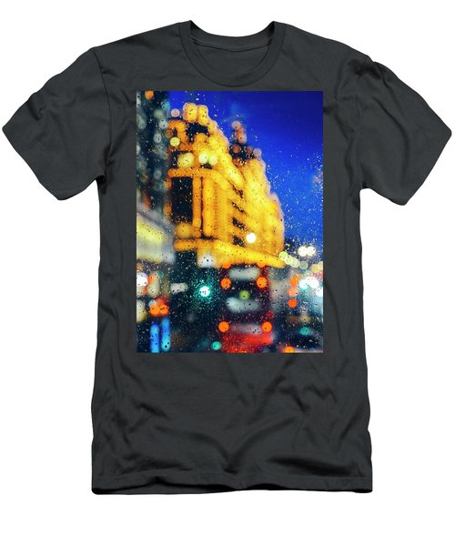 Melancholic London Lights  Men's T-Shirt (Athletic Fit)