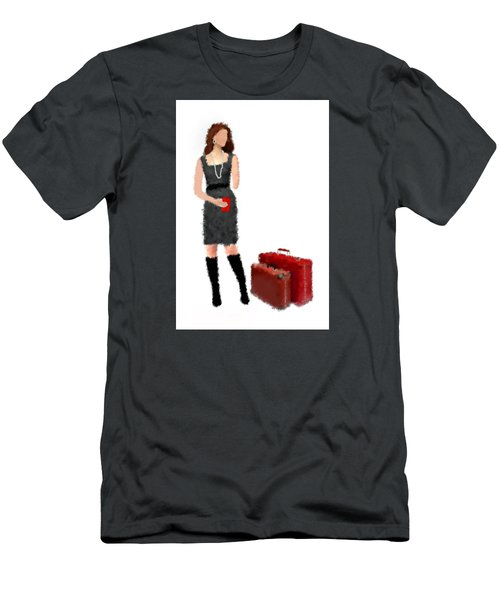 Men's T-Shirt (Slim Fit) featuring the digital art Melanie by Nancy Levan