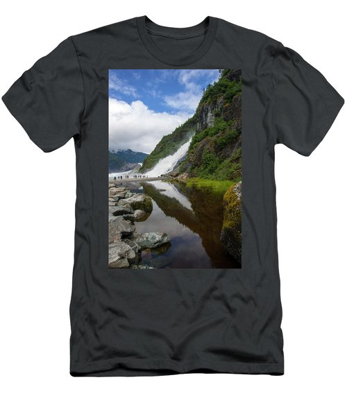 Mendenhall Waterfall Men's T-Shirt (Athletic Fit)