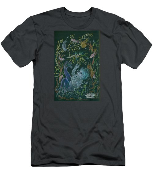 Merbaby Blue Men's T-Shirt (Slim Fit) by Dawn Fairies