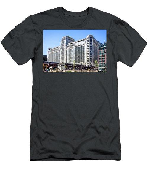 Merchandise Mart Overlooking The L Men's T-Shirt (Athletic Fit)