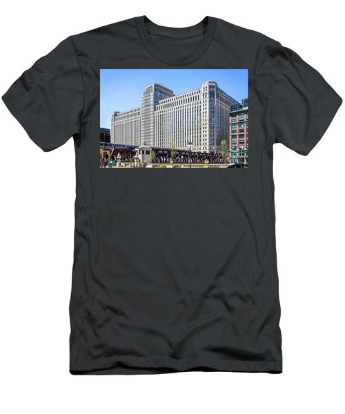 Merchandise Mart Overlooking The L Men's T-Shirt (Athletic Fit)