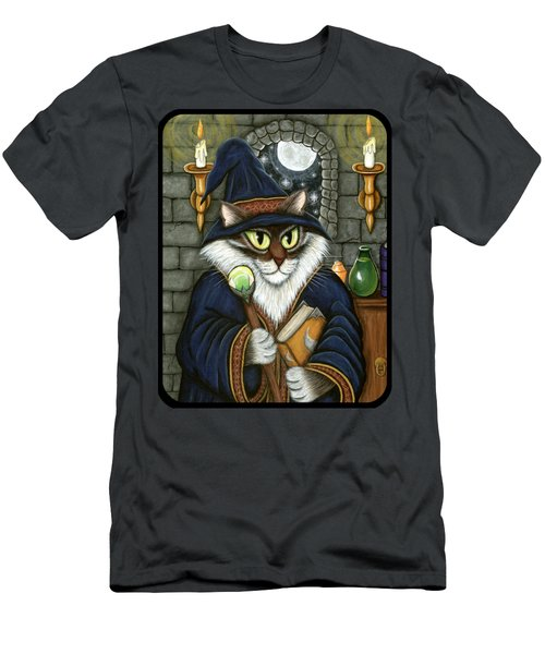 Merlin The Magician Cat Men's T-Shirt (Athletic Fit)