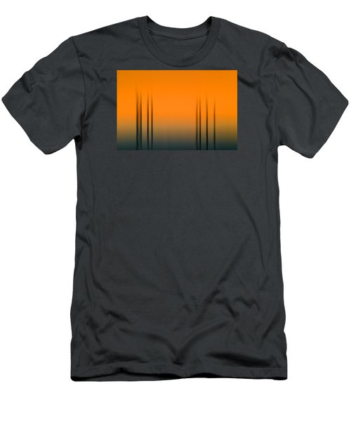 Merritt Island Sunset Digital Abstracts Motion Blur  Men's T-Shirt (Slim Fit) by Rich Franco