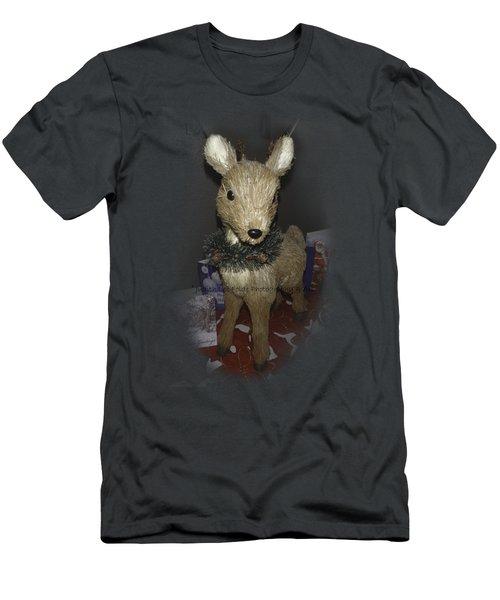 Merry Christmas Deer Men's T-Shirt (Athletic Fit)