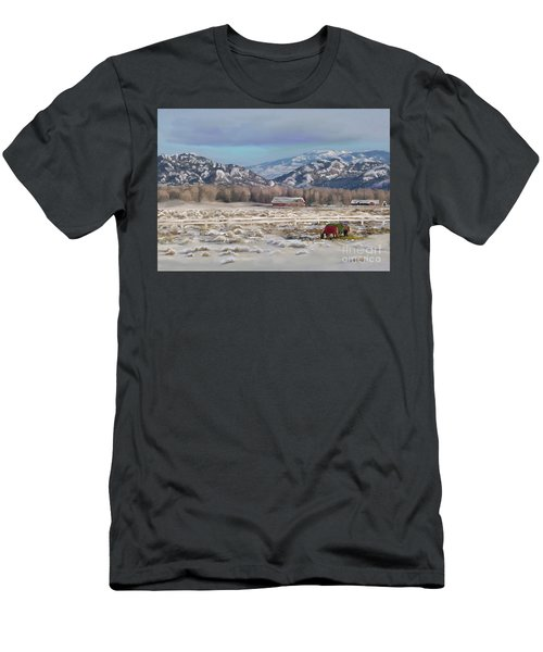 Merry Christmas From Wyoming Men's T-Shirt (Slim Fit) by Dawn Senior-Trask
