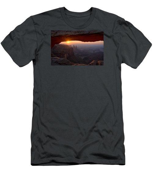 Mesa Arch Sunrise Men's T-Shirt (Slim Fit) by Darlene Bushue