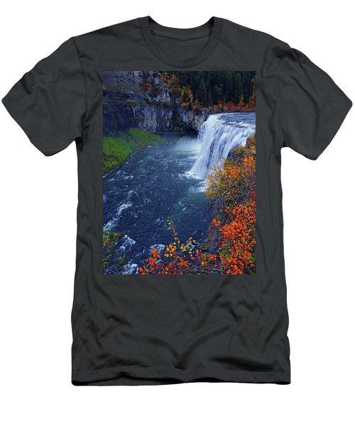 Mesa Falls In The Fall Men's T-Shirt (Athletic Fit)