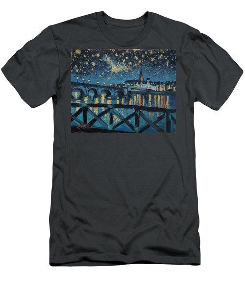 Mestreechter Staarenach Staryy Night Maastricht Men's T-Shirt (Slim Fit) by Nop Briex