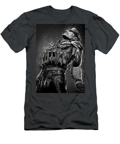 Men's T-Shirt (Slim Fit) featuring the digital art Metal Gear Solid by Taylan Apukovska