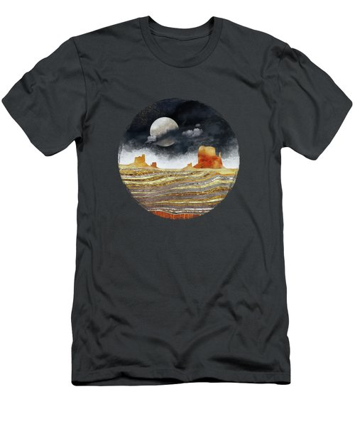 Metallic Desert Men's T-Shirt (Slim Fit) by Spacefrog Designs