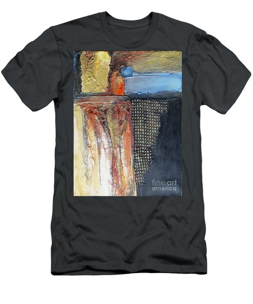 Metallic Fall With Blue Men's T-Shirt (Athletic Fit)