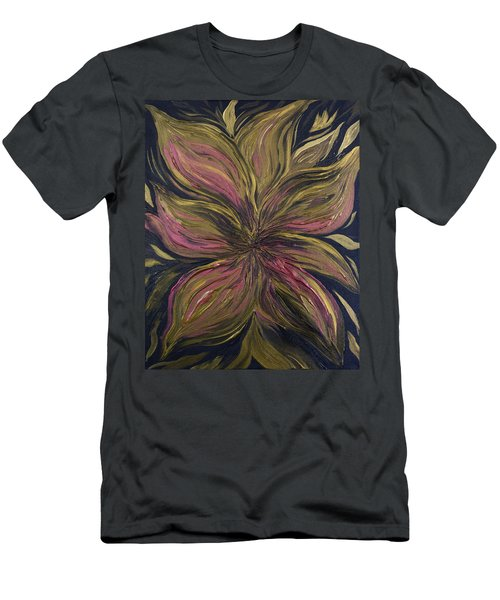 Metallic Flower Men's T-Shirt (Athletic Fit)