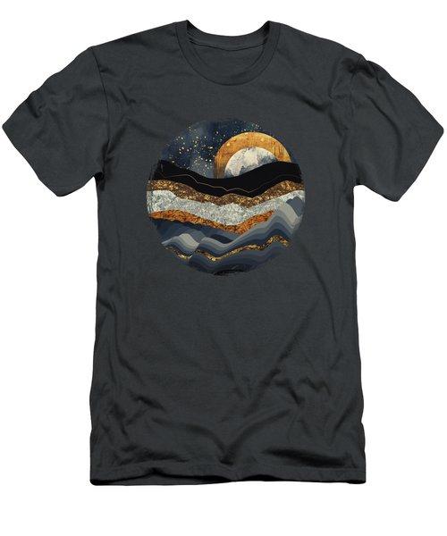 Metallic Mountains Men's T-Shirt (Athletic Fit)