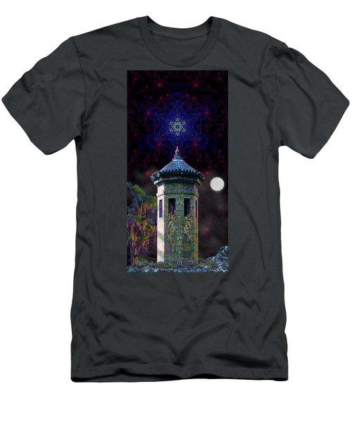 Men's T-Shirt (Slim Fit) featuring the digital art Metatron Nocturnal by Iowan Stone-Flowers