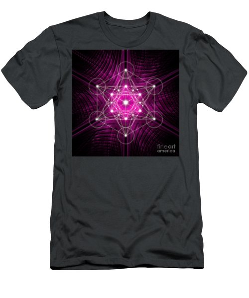 Metatron's Cube Waves Men's T-Shirt (Athletic Fit)