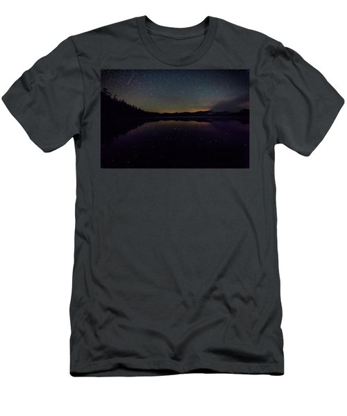 Meteor Over Chocorua Lake Men's T-Shirt (Athletic Fit)