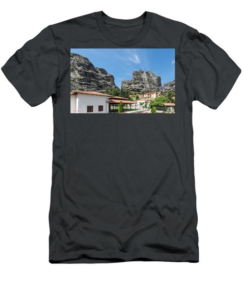 Men's T-Shirt (Slim Fit) featuring the photograph Meteora In Greece by Arik Baltinester