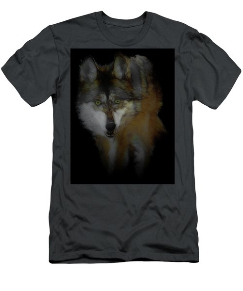Mexican Grey Wolf Da2 Men's T-Shirt (Athletic Fit)
