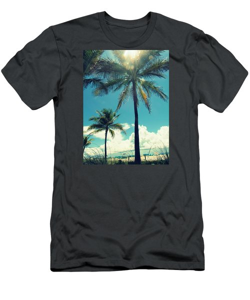 Men's T-Shirt (Slim Fit) featuring the photograph Miami Beach by France Laliberte