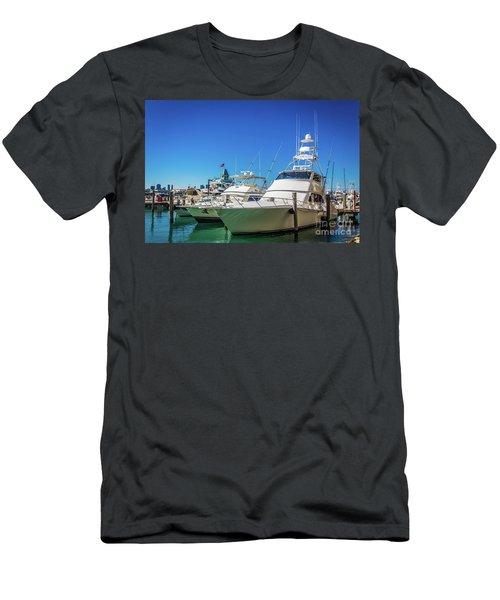 Miami Beach Marina 4528 Men's T-Shirt (Athletic Fit)