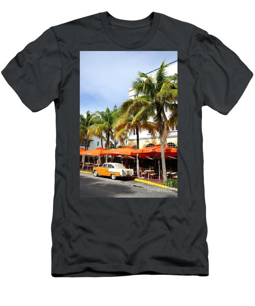 Miami South Beach Ocean Drive 8 Men's T-Shirt (Slim Fit) by Nina Prommer