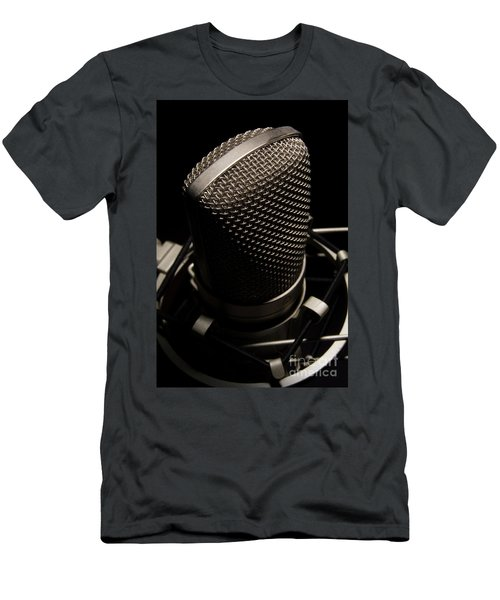 Mic Men's T-Shirt (Slim Fit) by Brian Jones