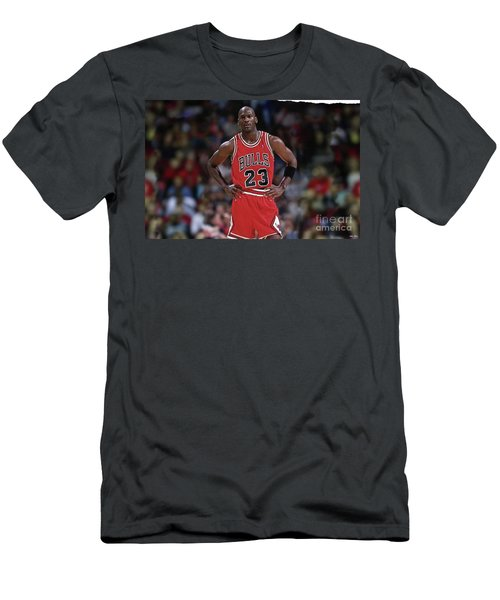 Michael Jordan, Number 23, Chicago Bulls Men's T-Shirt (Slim Fit) by Thomas Pollart