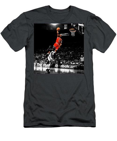 Michael Jordan Suspended In Air Men's T-Shirt (Slim Fit) by Brian Reaves