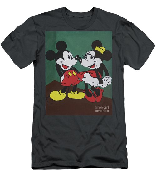 Mickey And Minnie Men's T-Shirt (Athletic Fit)