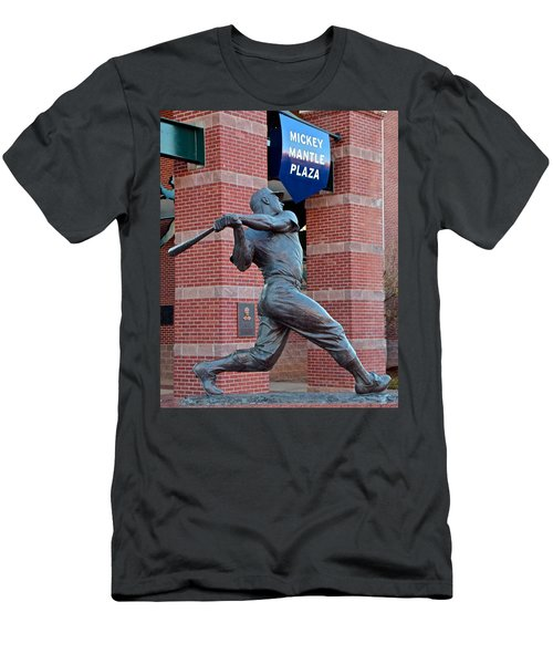 Mickey Mantle Men's T-Shirt (Slim Fit) by Frozen in Time Fine Art Photography