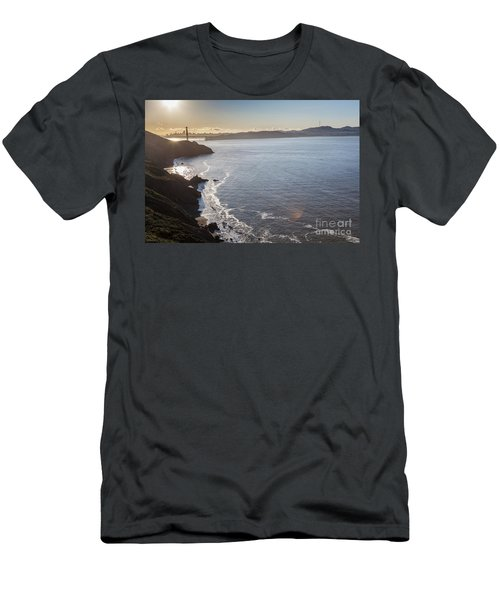 Mid Morning View Of The Downtown San Franscisco Over The Golden  Men's T-Shirt (Athletic Fit)