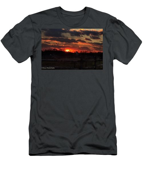 Men's T-Shirt (Athletic Fit) featuring the photograph Mid Ohio Sunset by Bruce Patrick Smith