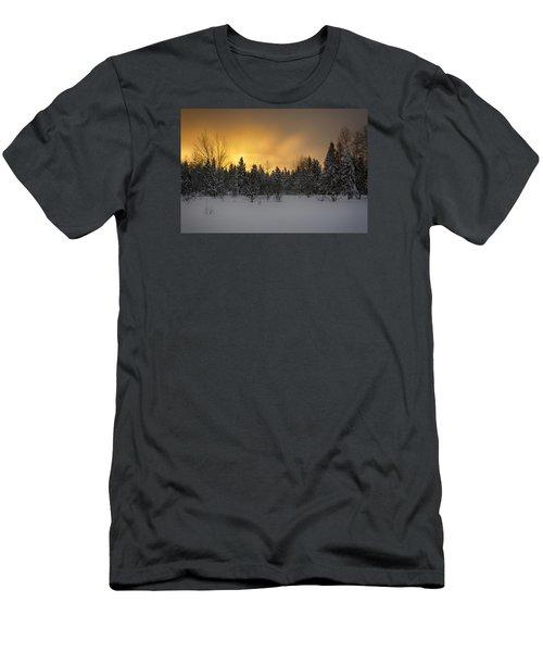 Mid-winter Glow Men's T-Shirt (Slim Fit) by Dan Hefle
