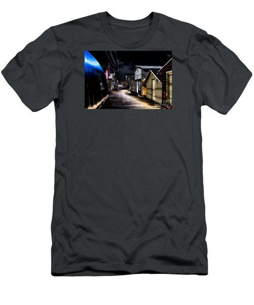 Midnight At The Boathouse Men's T-Shirt (Slim Fit) by William Norton