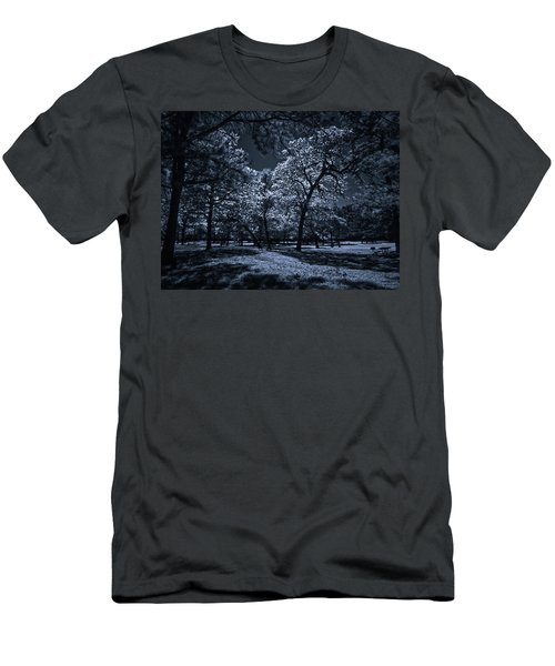 Men's T-Shirt (Slim Fit) featuring the photograph Midnight Blues by Linda Unger