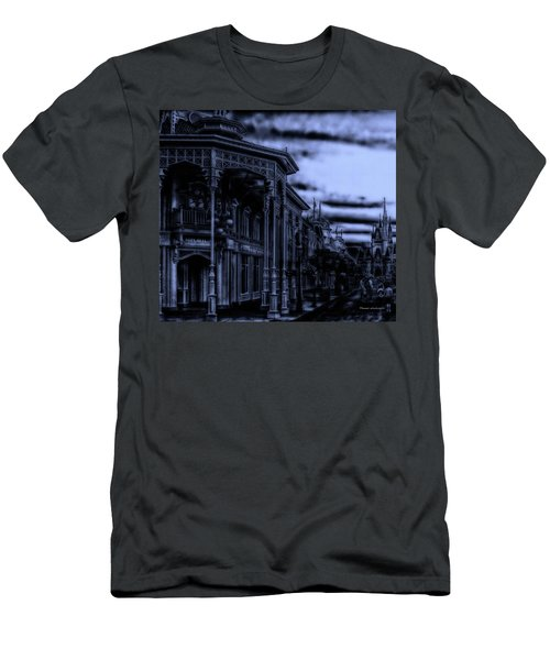 Midnight On Main Street Disney World Mp Men's T-Shirt (Slim Fit) by Thomas Woolworth