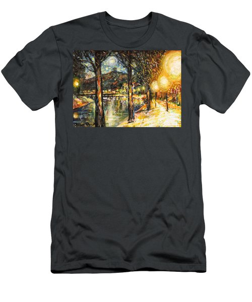 Midnight Reflections Men's T-Shirt (Athletic Fit)