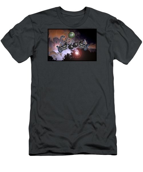 Men's T-Shirt (Slim Fit) featuring the photograph Midnight Rider by Amanda Vouglas