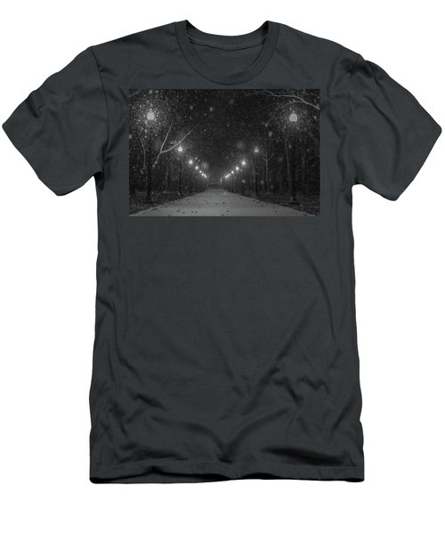 Midnight Snow Storm Men's T-Shirt (Athletic Fit)