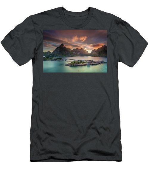 Midnight Sun Galore Men's T-Shirt (Slim Fit) by Alex Conu